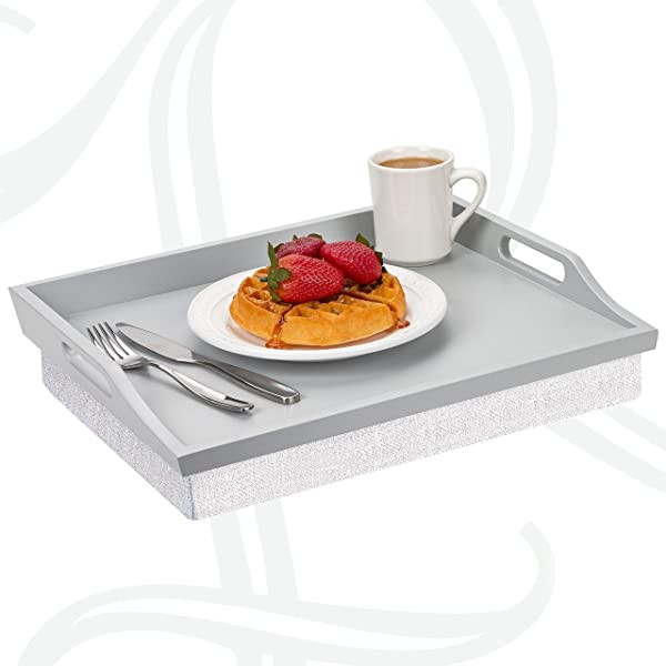 Rossie Lap Tray with Detachable Pillow Serving Tra