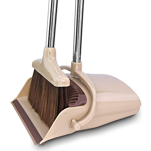 BELLEFORD Broom and Dustpan Set [2020] Stand Up Br