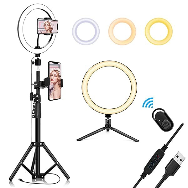 10.2 Selfie Ring Light with Tripod Stand & Cell Ph