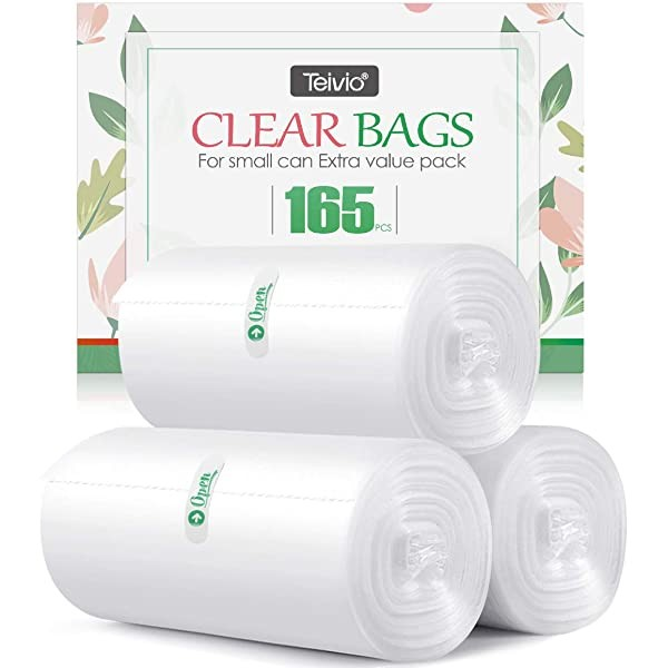 1.2 Gallon 165 counts Small Strong Trash Bags Garb