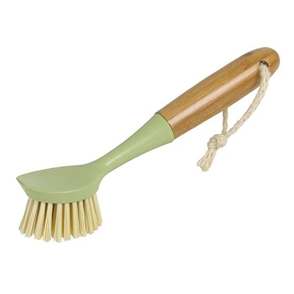 Evriholder Long Handle Brush Dish Scrubber with Bu